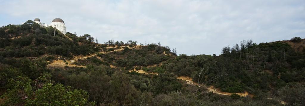 Een klein deel van het stijle pad richting het Griffith Observatory