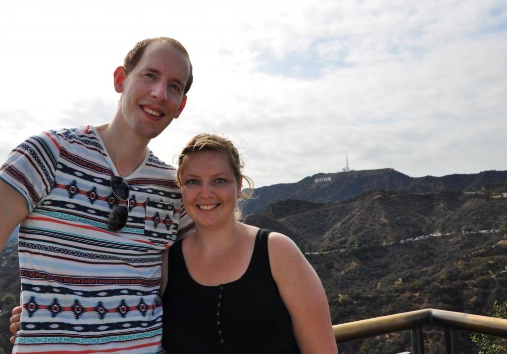 Ons samen met op de achtergrond het Hollywood Sign