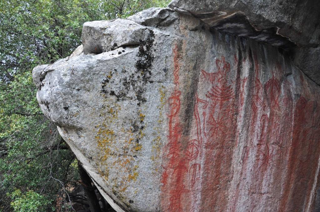 Rotstekeningen van Native Americans